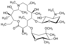Azithromycin structure.png