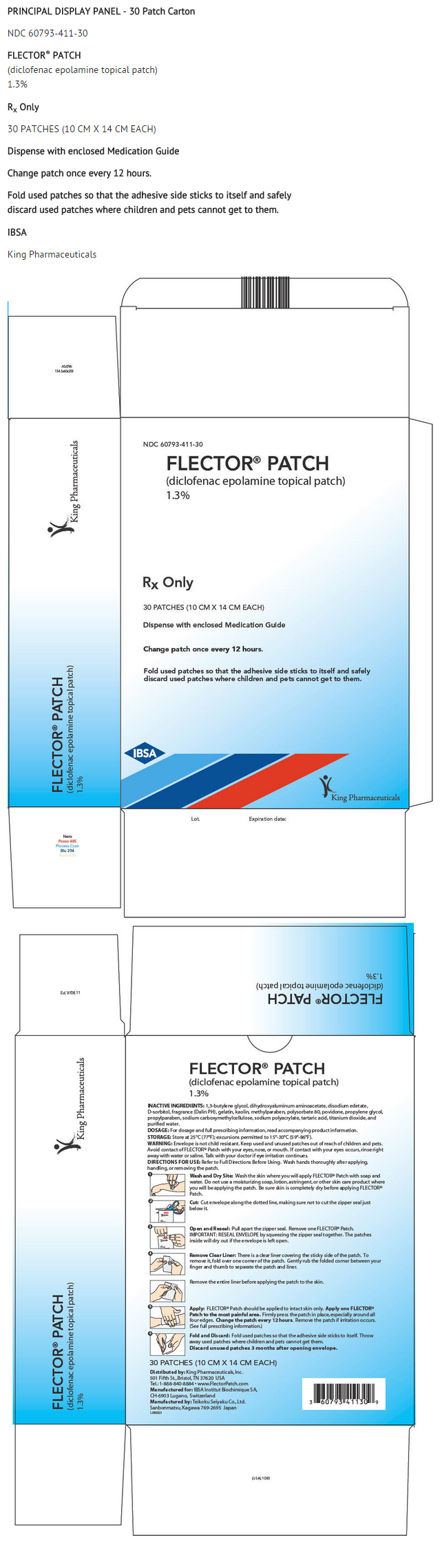 flector patch package insert