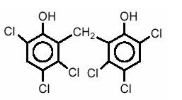Hexachlorophene structure.png