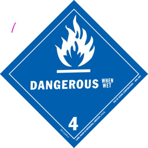 Class 4.3: Dangerous when Wet