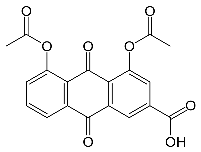 Structural formula of diacerein