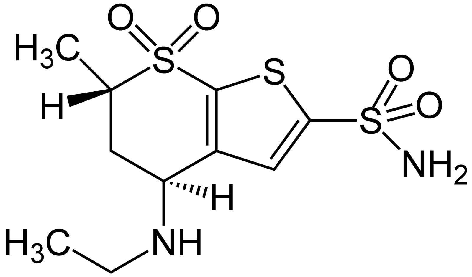 Dorzolamide Structural Formulae.png