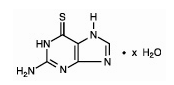 Thioguanine chemical structure.png
