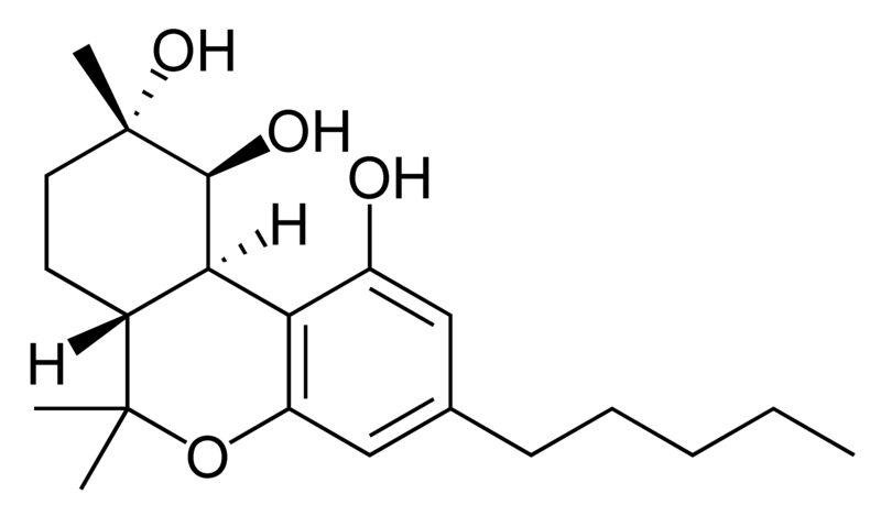 Chemical structure of cannabiripsol.