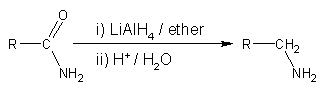 Reduction of amides to amines