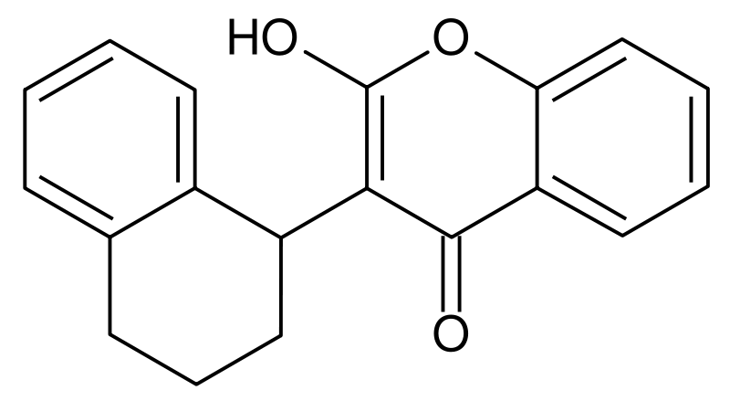 Chemical structure of coumatetralyl