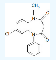 Clobazam chemical structure.png