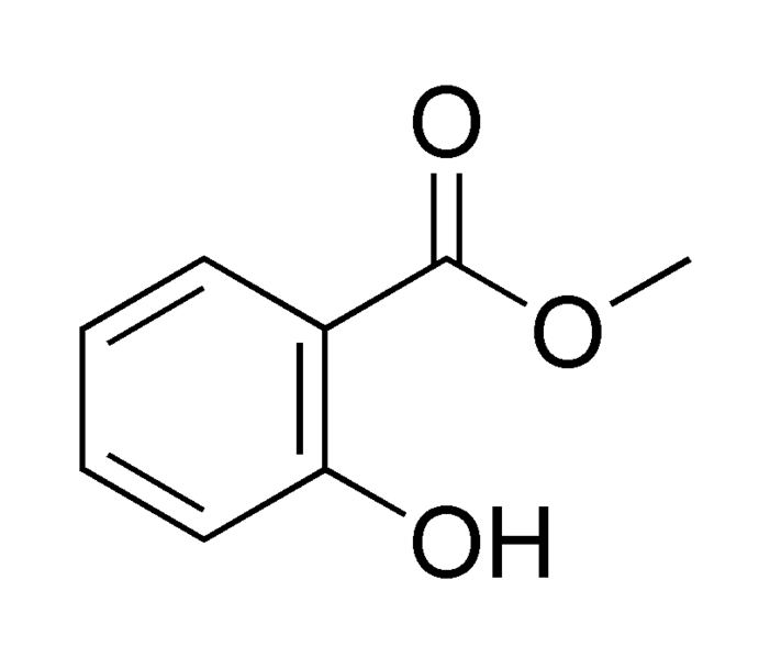 Salicylic acid methyl ester chemical structure.png