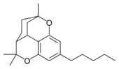 Chemical structure of a CBT-type cannabinoid.