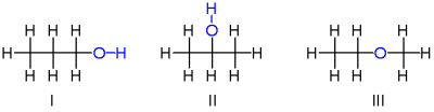 isomers of propanol