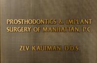 Prosthodontics & Implant Surgery of Manhattan, PC-     Dr. Zev Kaufman D.D.S.