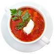 Beet and cabbage borscht