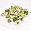 Broccoli salad and peanut dressing