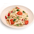 Garlic and cherry tomato pasta
