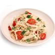 Garlic and cherry tomato pasta