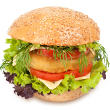 Ground chicken ranch burger
