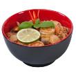 Shrimp and tofu soup