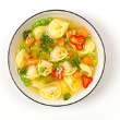 Tortellini and chicken soup