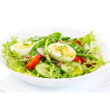 Watercress salad with eggs and chive-caper vinaigrette