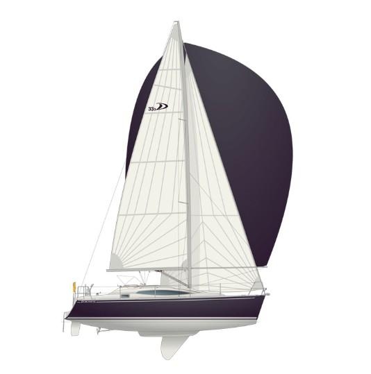 Каюты парусной яхты Delphia D 33.3  Swing keel version