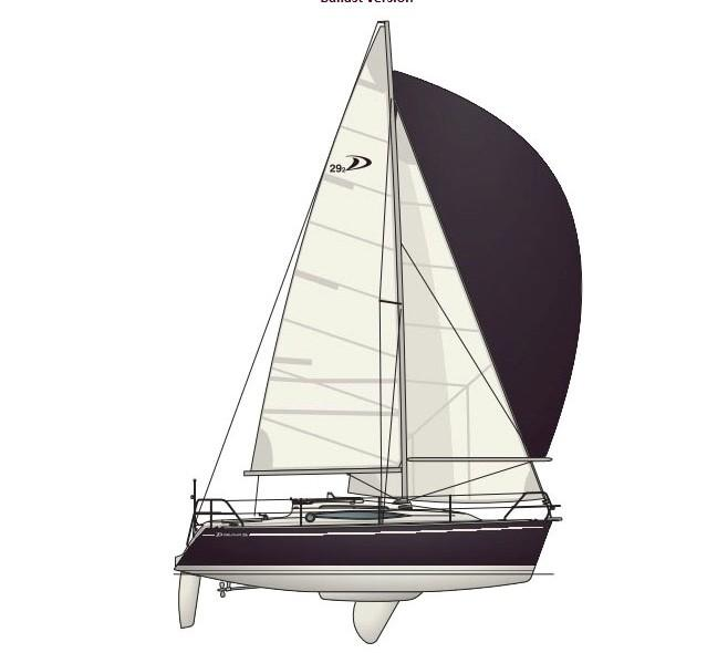 Каюты парусной яхты Delphia 29.2 Swing keel version