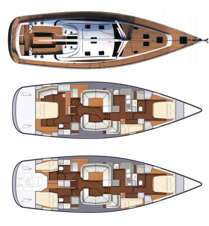 Каюты парусной яхты Northshore Yachts Southerly 57RS
