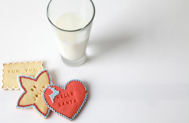 Letterpress christmas cookies