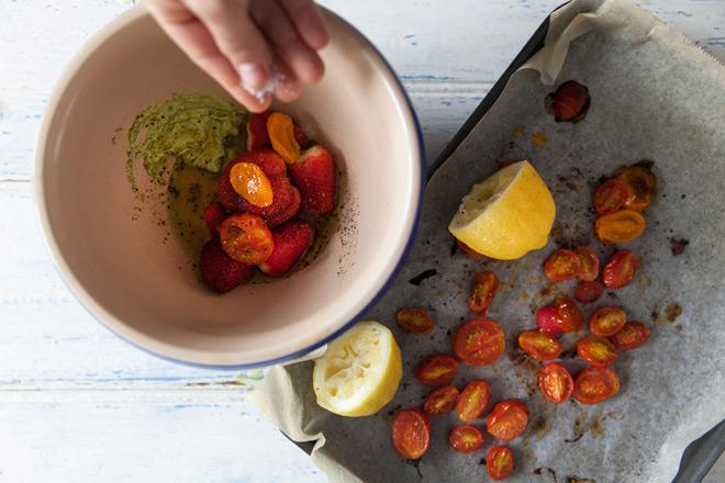 Salad-roasted-tomatoes