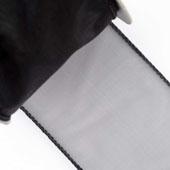 "2 1/2"" Wired Organza Ribbon - 10 Yards (Black)"