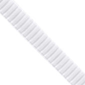 """1 1/2"""" Wired Pleated Ribbon - 10 Yards (White)"""