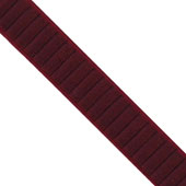 """1 1/2"""" Wired Pleated Ribbon - 10 Yards (Wine)"""