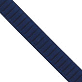 """1 1/2"""" Wired Pleated Ribbon - 10 Yards (Navy Blue)"""