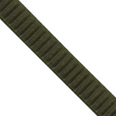 """1 1/2"""" Wired Pleated Ribbon - 10 Yards (Moss Green)"""