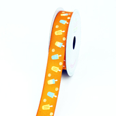 "7/8"" Grosgrain Popisicle Ribbon - 10 Yards (Orange)"
