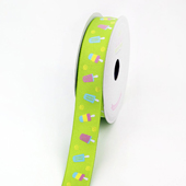 "7/8"" Grosgrain Popisicle Ribbon - 10 Yards (Apple Green)"