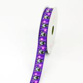 "5/8"" Grosgrain Zebra With Flower Ribbon - 10 Yards (Purple)"