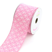 "2 1/2"" Canvas Curved Diamond Ribbon - 10 Yards (Pink)"