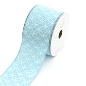 "2 1/2"" Canvas Curved Diamond Ribbon - 10 Yards (Tropic Blue)"