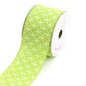 "2 1/2"" Canvas Curved Diamond Ribbon - 10 Yards (Apple Green)"