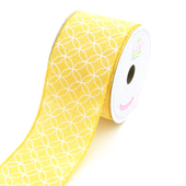"2 1/2"" Canvas Curved Diamond Ribbon - 10 Yards (Yellow)"