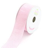 "1 1/2"" Stitched Stripes Ribbon - 10 Yards (Pink)"