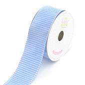"1 1/2"" Stitched Stripes Ribbon - 10 Yards (Blue)"