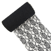 "6"" Lace Roll - 10 Yards (Black)"