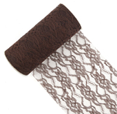 "6"" Lace Roll - 10 Yards (Brown)"