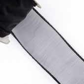 "1 1/2"" Wired Organza Ribbon - 10 Yards (Black)"