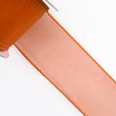 "1 1/2"" Wired Organza Ribbon - 10 Yards (Orange)"