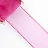 "1 1/2"" Wired Organza Ribbon - 10 Yards (Hot Pink)"