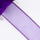 "1 1/2"" Wired Organza Ribbon - 10 Yards (Purple)"