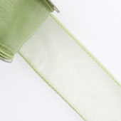"1 1/2"" Wired Organza Ribbon - 10 Yards (Mint Green)"