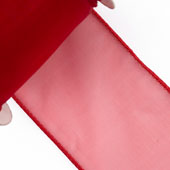 """2 1/2"""" Wired Organza Ribbon - 10 Yards (Red)"""
